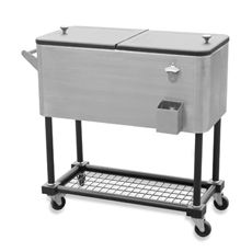 Stainless Steel 80 Quart Beverage Cooler Cart   When This Goes On Sale.