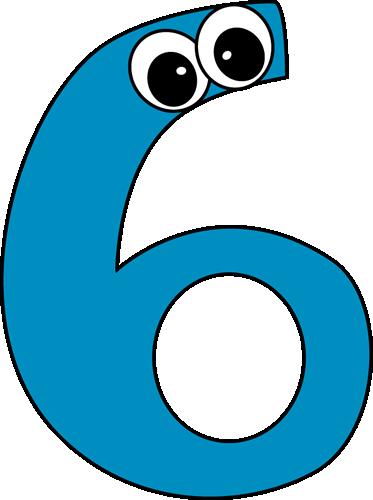 Cartoon Number Six Clip Art Cartoon Number Six Image Number Six Math Number Cards Clip Art