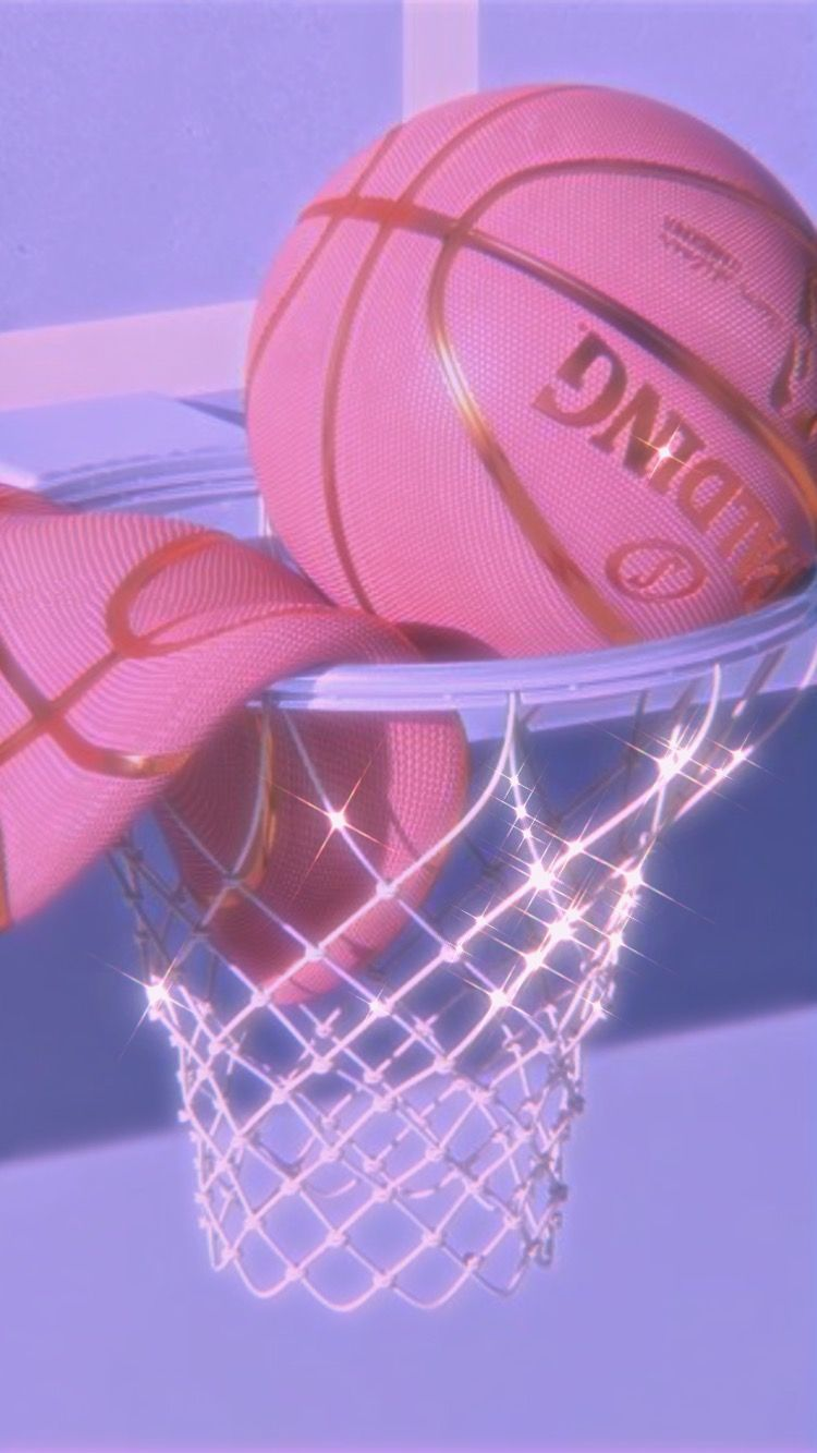 Pink Aesthetic Basketball Pink Aesthetic Basketball In 2020 Pastel Pink Aesthetic Pink Aesthetic Art Collage Wall