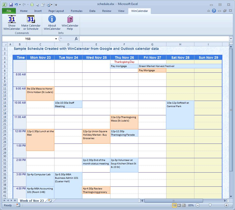 microsoft office schedule maker