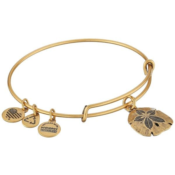 Alex and Ani Sand Dollar Charm Bangle Bracelet ($28) ❤ liked on Polyvore featuring jewelry, bracelets, peace sign charms, alex and ani charms, adjustable bangle, charm bangle and peace jewelry