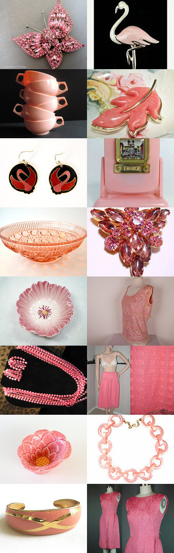 Flamingo Pink - Vintage Vogue Team by Cherie on Etsy--Pinned with TreasuryPin.com