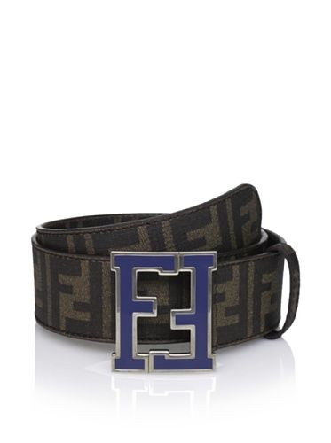 fc363e69a2c 50% OFF Fendi Men  s Logo Belt (Tabacco Blue) Fendi