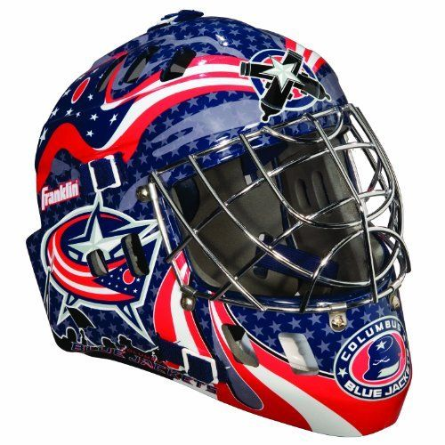 Nhl Columbus Blue Jackets Sx Comp Gfm 100 Goalie Face Mask By Franklin 35 05 Show Your Team Spirit With The Goalie Mask Columbus Blue Jackets Street Hockey