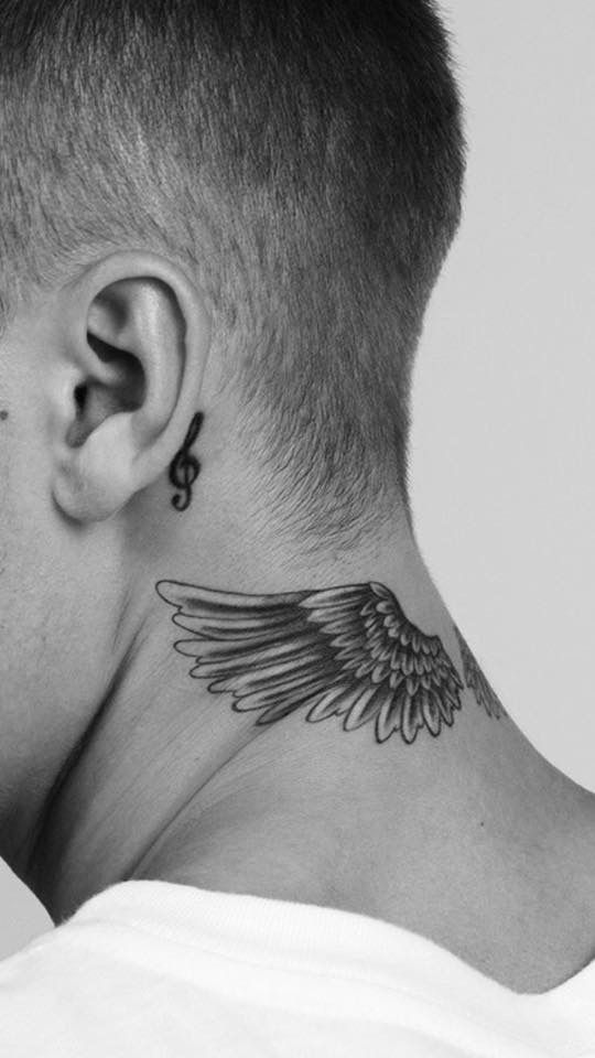 Jb Neck Tattoo Wings