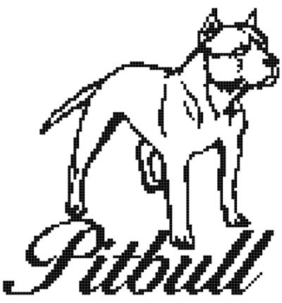 Pitbull Crochet Graph Pattern pattern on Craftsy.com