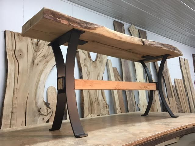 Steel Sofa Table Base Ohiowoodlands Timber Beam Console Table Legs Metal Table Legs Diy Table Legs Steel Table Legs