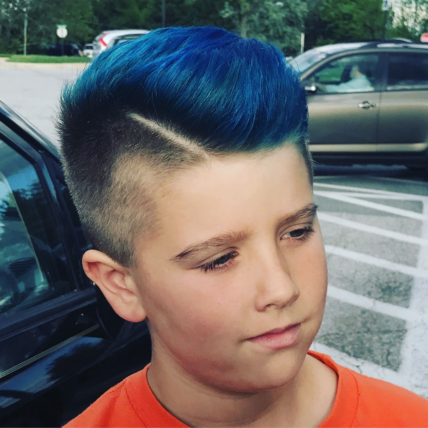Boys Blue Hair Jmaries Salon Jmariessalon Hair Highlights Haircut Haircolor Goldwell Goldwellusa El Boys Blue Hair Boys Colored Hair Kids Hair Color