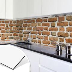 Küchenrückwand - Alu-Dibond-Silber - Mauer 05 | Walls