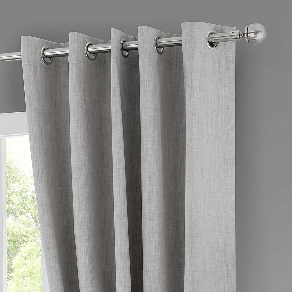 Solar Grey Blackout Eyelet Curtains Blackout Eyelet Curtains Curtains Contemporary Curtains