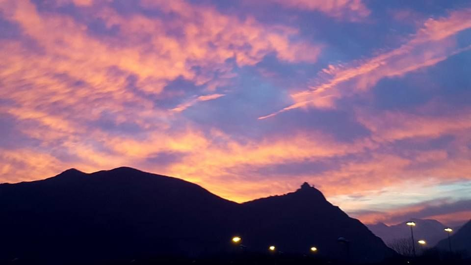 Tramonto sulla Sacra  #myValsusa 26.02.17 #fotodelgiorno di Emanuela Pi