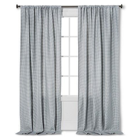 nate berkus woven curtain panel