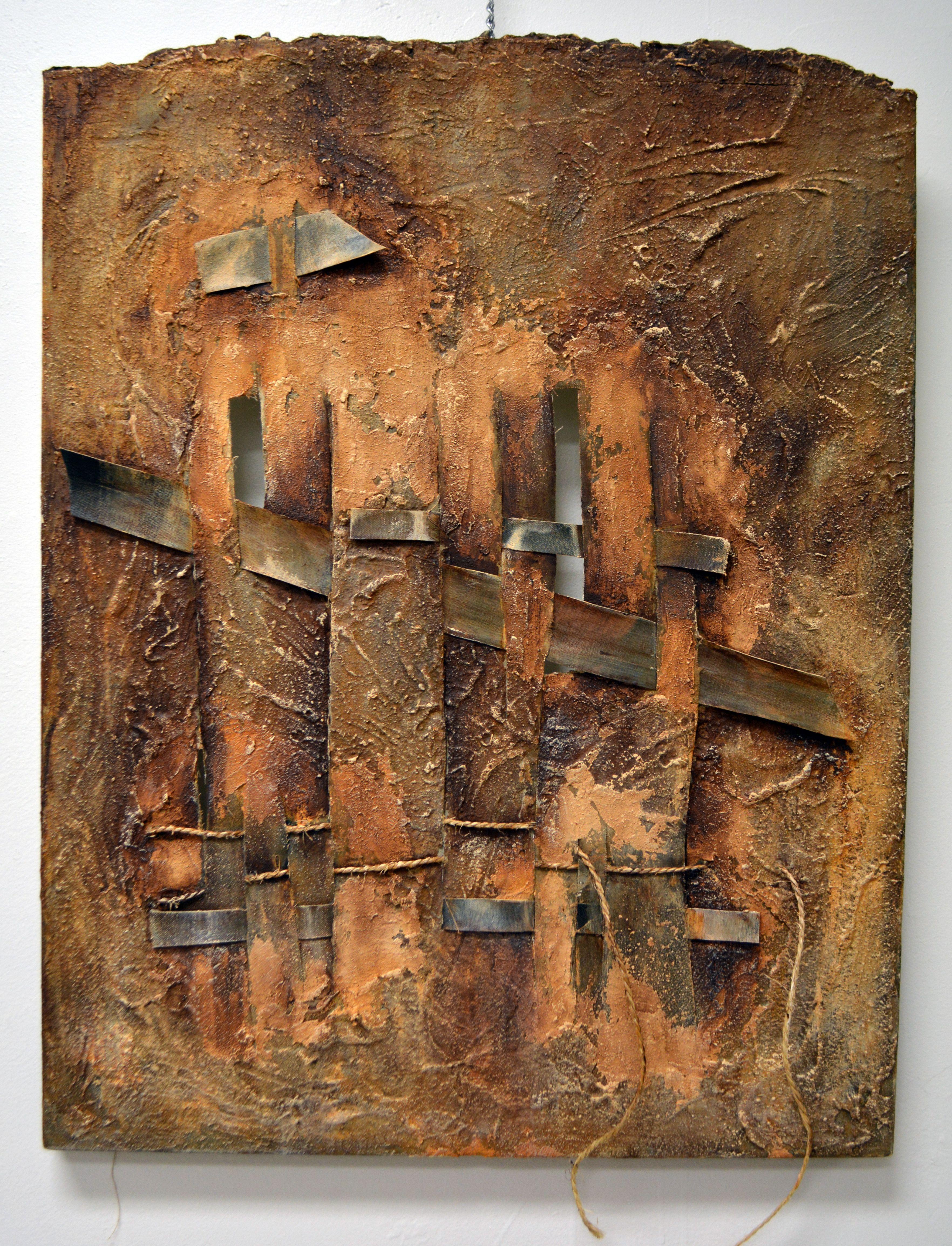 Main Route, mixed media on canvas, 24 x 30 in, $1600 by Leyla Aysel Munteanu , leylamunteanu@yahoo.com