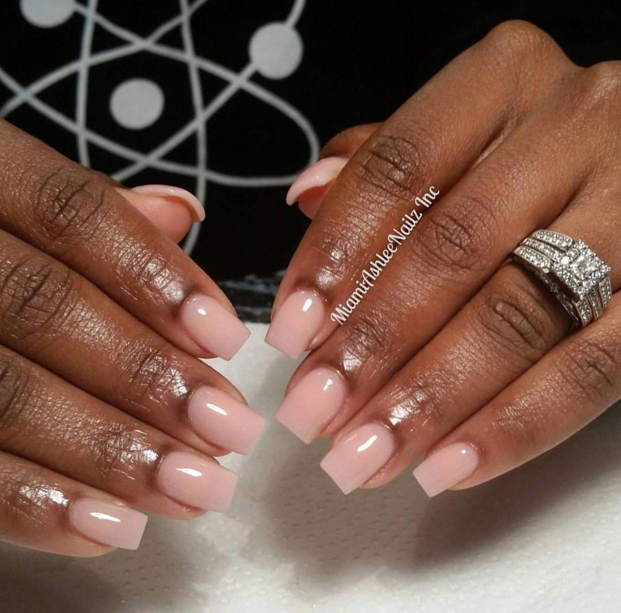 Sheer Pink Short Nails Nailswag Beautifulshortnailsdesign Short Square Acrylic Nails Square Acrylic Nails Natural Acrylic Nails