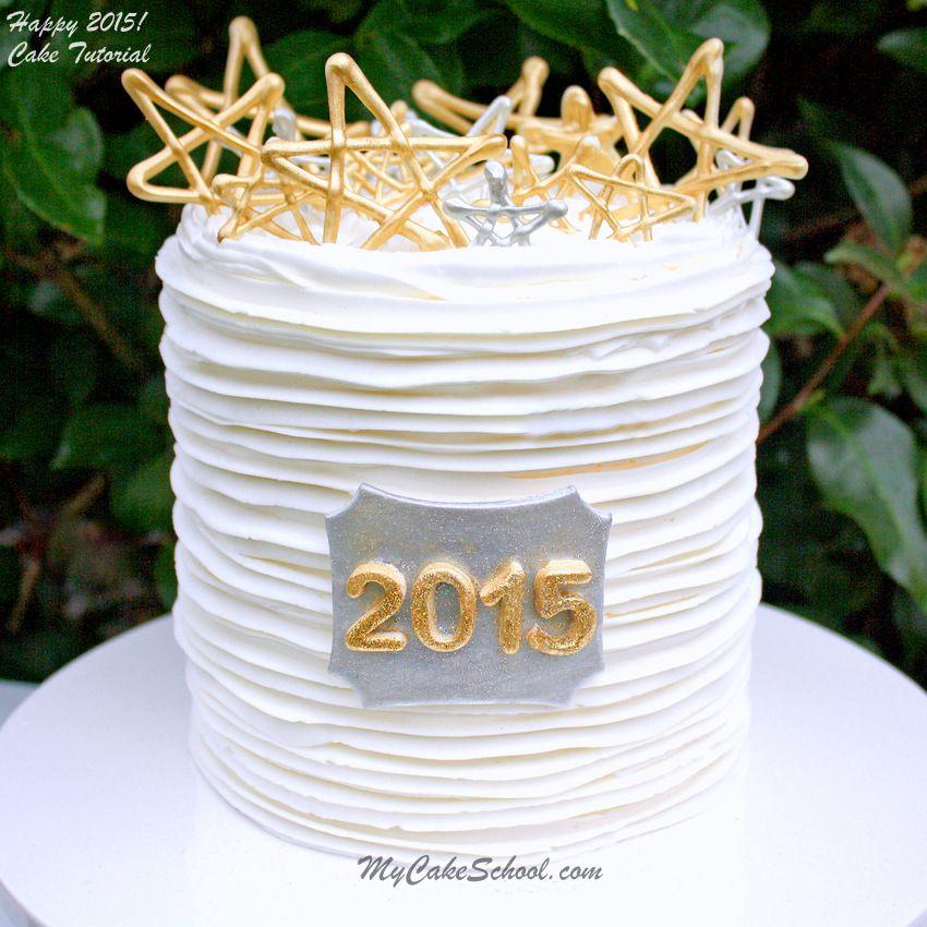 Happy New Year2015! Cake Tutorial {Blog} New year cake