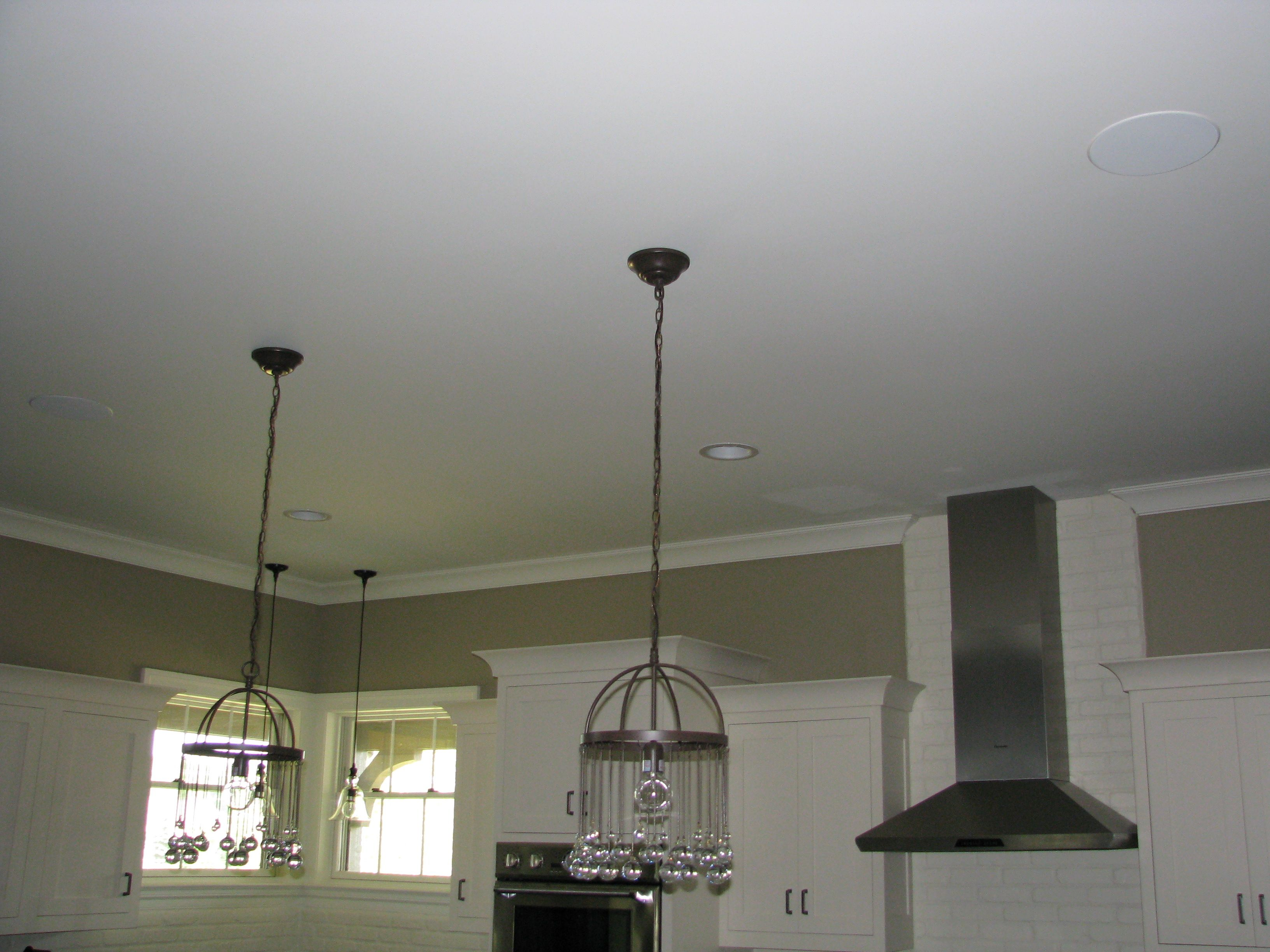 Sonance In Ceiling Speakers For Distributed Audio In Kitchen