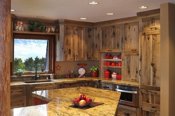 Holiday Kitchens Winchester Square Door Style Style Rustic Room Kitchen Material Charact Rustic Kitchen Cabinets Hickory Kitchen Cabinets Hickory Kitchen