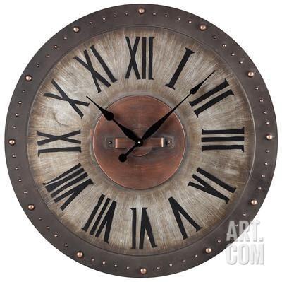 Metal Roman Numeral Outdoor Wall Clock Home Accessories At Art Com Industrial Clock Wall Roman Numeral Wall Clock Wall Clock