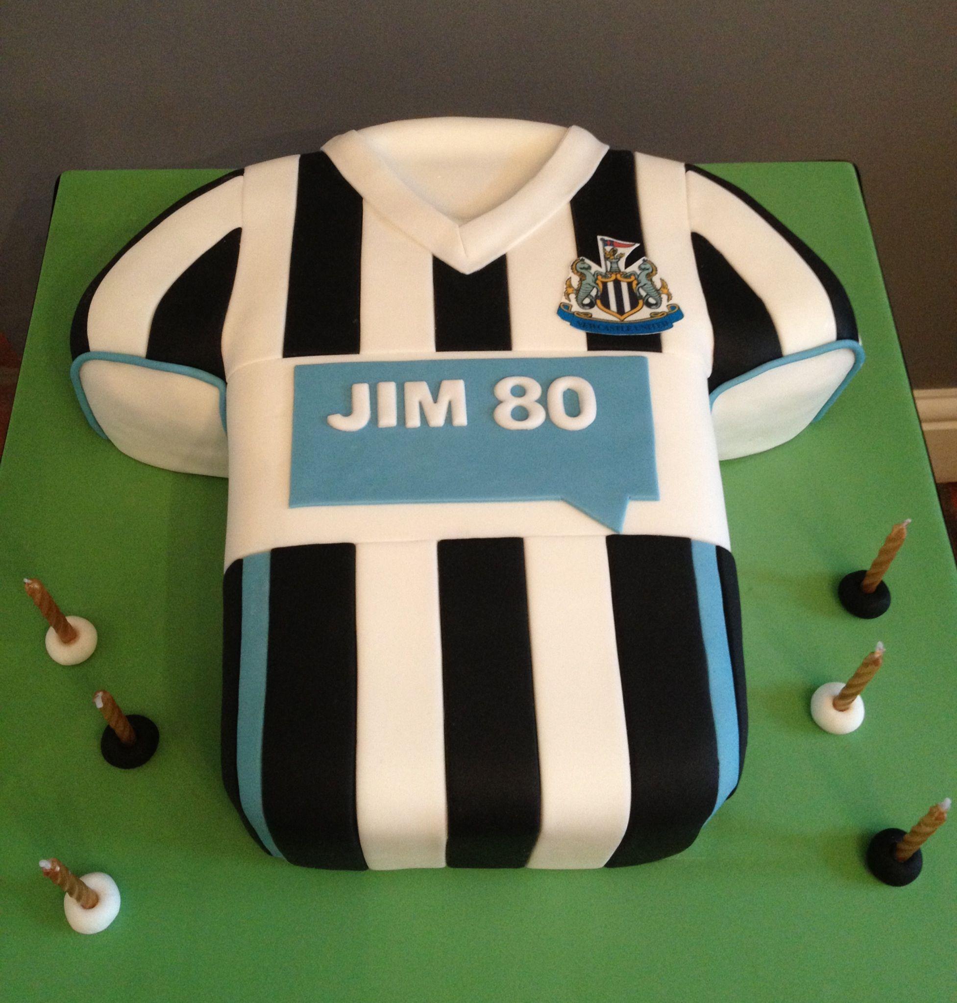 Newcastle United Football Shirt Cake Shirt Cake Dad Birthday