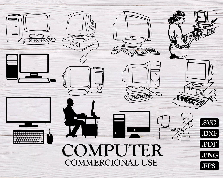 Computer Svg Computer Clipart Computer Vector