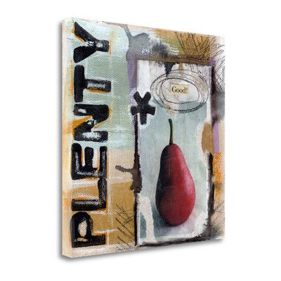 Tangletown Fine Art 'Plenty Good' by Linda Woods Graphic Art on Wrapped Canvas