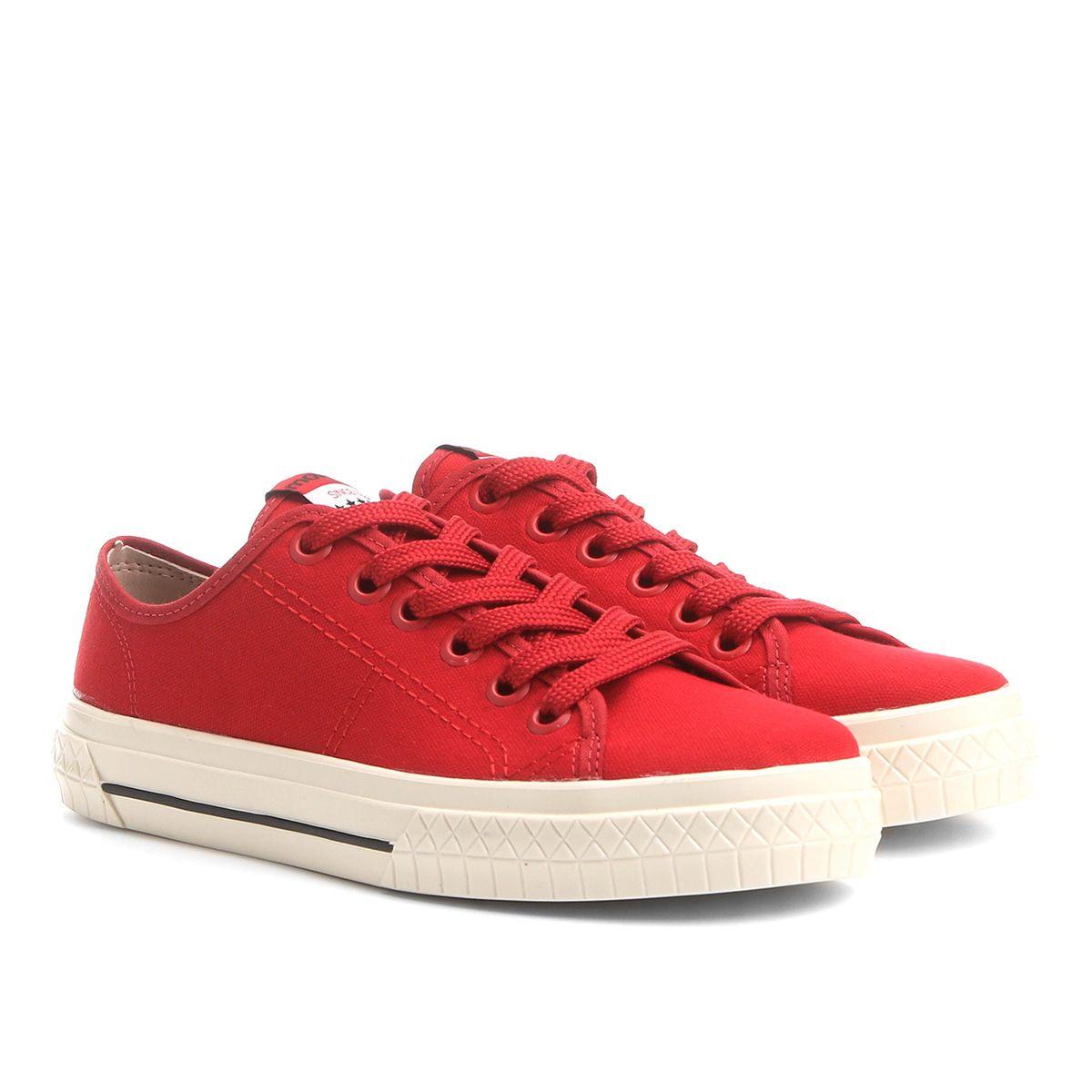 b692fe8cecb Tênis Moleca Cadarço Feminino - Vermelho Com design inspirado nos anos 90