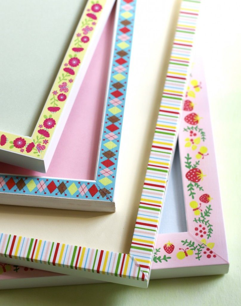 Use tape to decorate picture frames home decor pinterest use tape to decorate picture frames jeuxipadfo Image collections