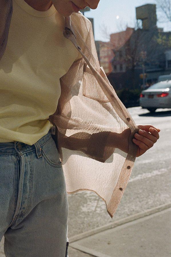 MNZ Ana button up shirt, coffee