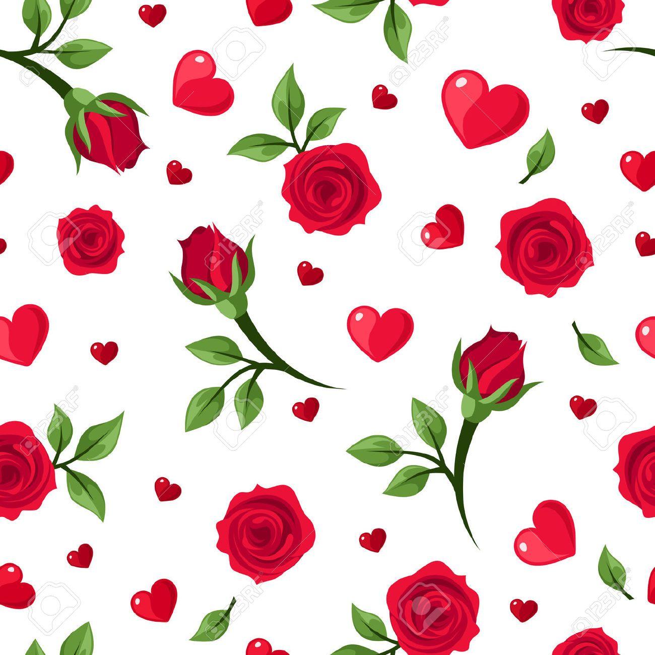 Red Roses Background Wallpaper Patterns Designs Designer Seamless
