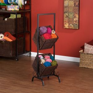 This 2-tier basket storage unit is a must have for any kitchen, cra...would so love this,even though I don't need it!!!
