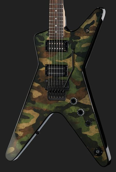 Dean Guitars Dimebag Camo Floyd ML Electric Guitar Signature Model Basswood Top