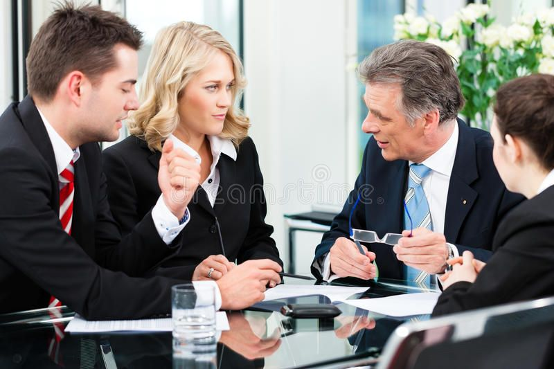 Business People Meeting In An Office Business Meeting In An