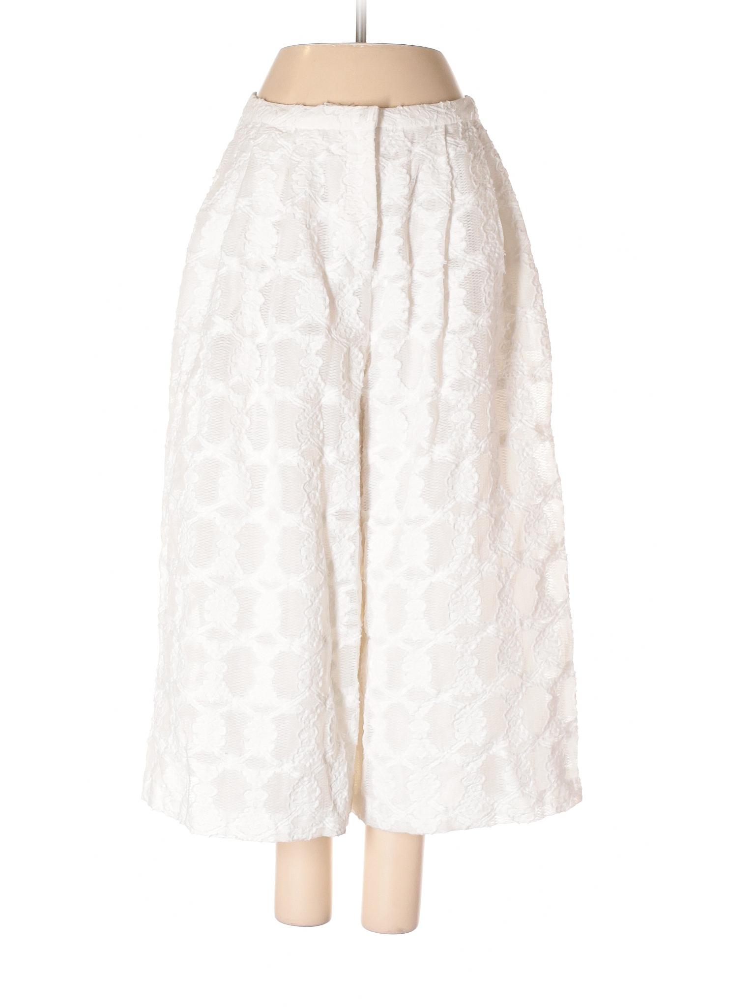 9dc006b006ff Champagne   Strawberry Casual Pants  Size 4.00 White Women s Bottoms -   11.99