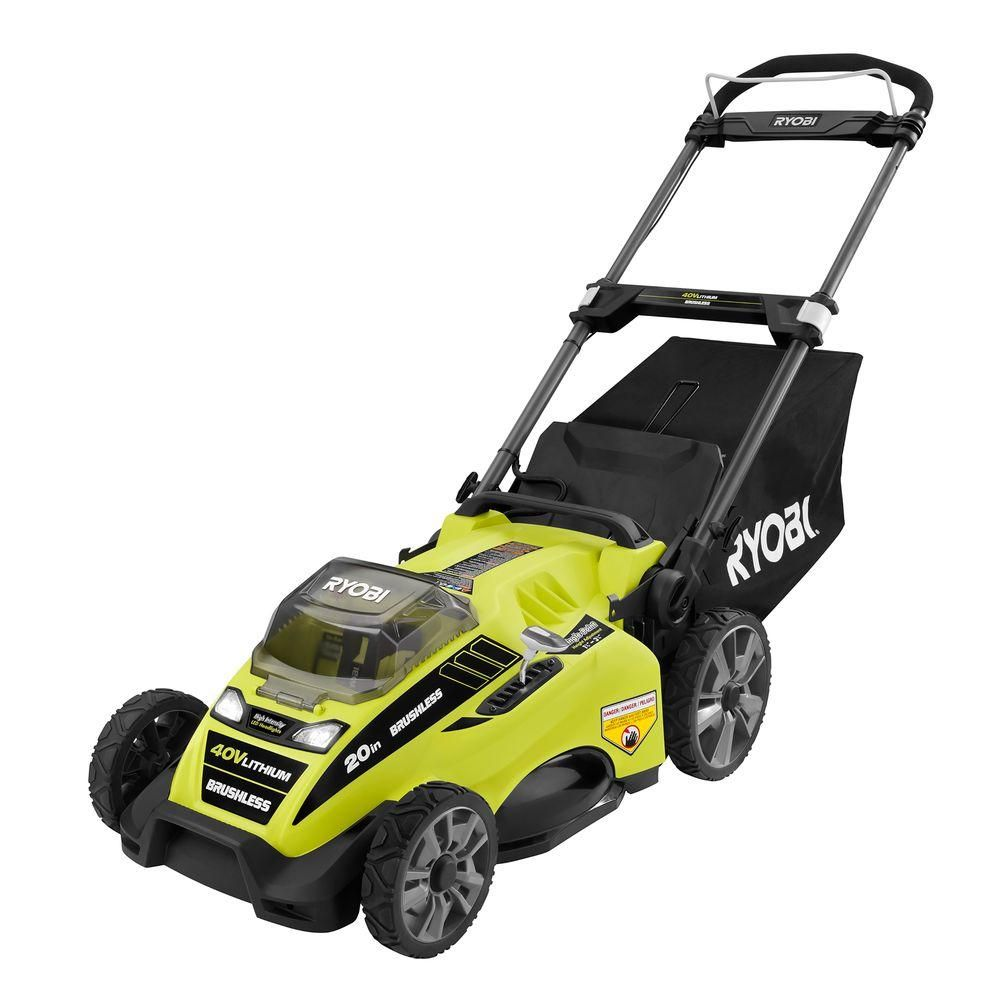 Ryobi 20 in 40Volt Brushless LithiumIon Cordless Electric Lawn