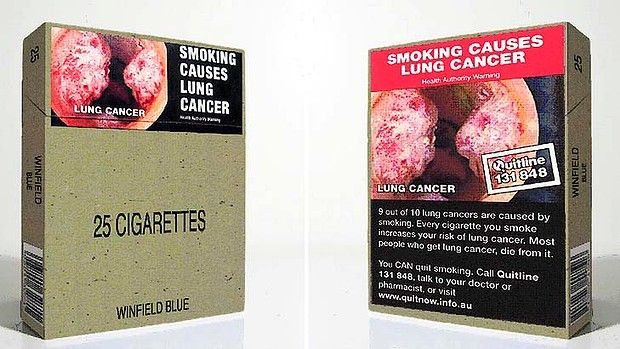 Plain packaging on cigarettes - does deter somkers. GREAT NEWS!