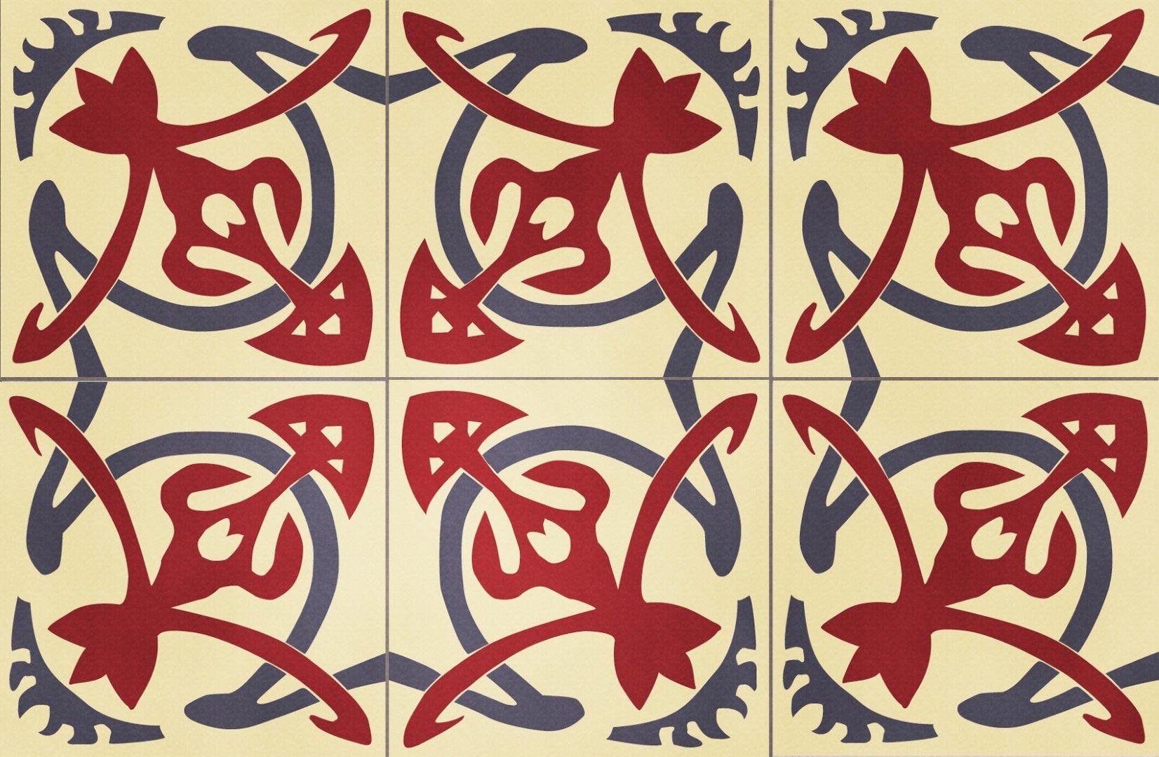 Arabesque Rouge Nos Carreaux De Ciment Traditionnels Et