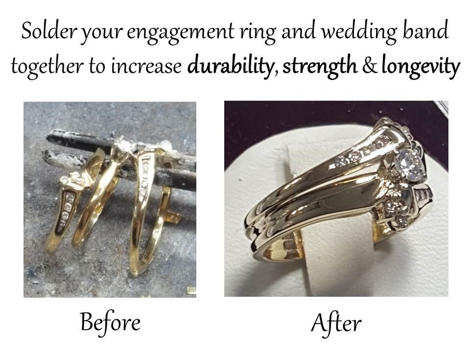 Hopman Jewelers Does Many Customization S Along With Soldering Your Engagement Ring And Wedding Band Together Engagement Rings Jewels Fine Jewelry