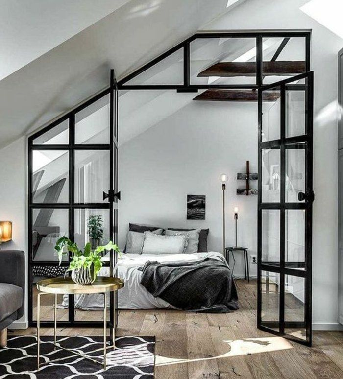 1001 id es d co de chambre sous pente cocoon verri re interieure pinterest chambre. Black Bedroom Furniture Sets. Home Design Ideas