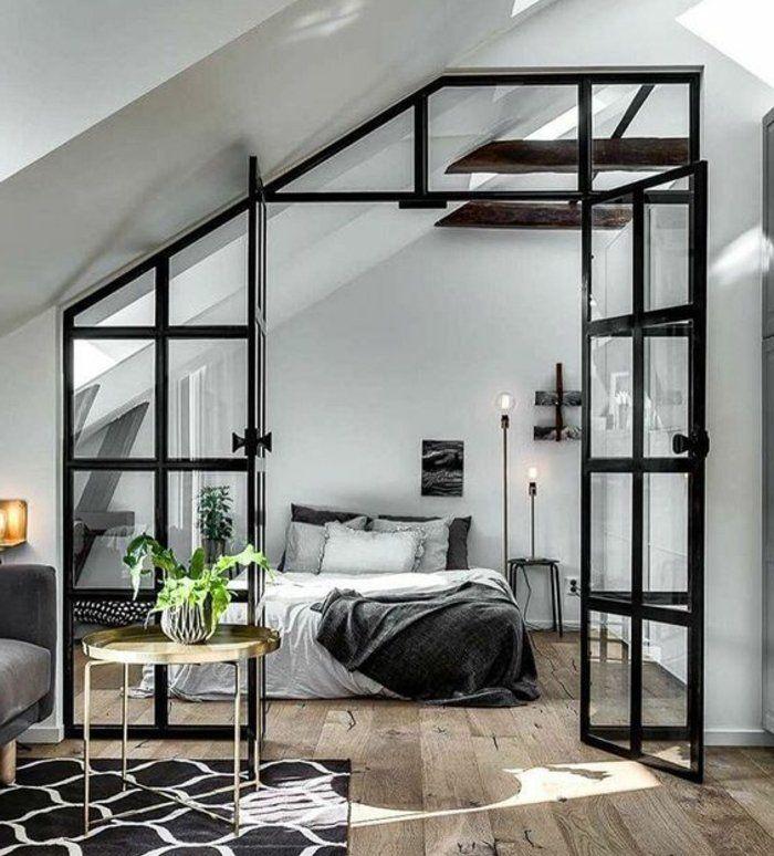 1001 id es d co de chambre sous pente cocoon chambre a - Idee peinture chambre mansardee ...