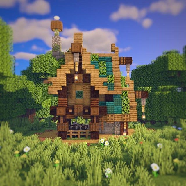 Here s a small farmhouse I built sorry for the crap lighting
