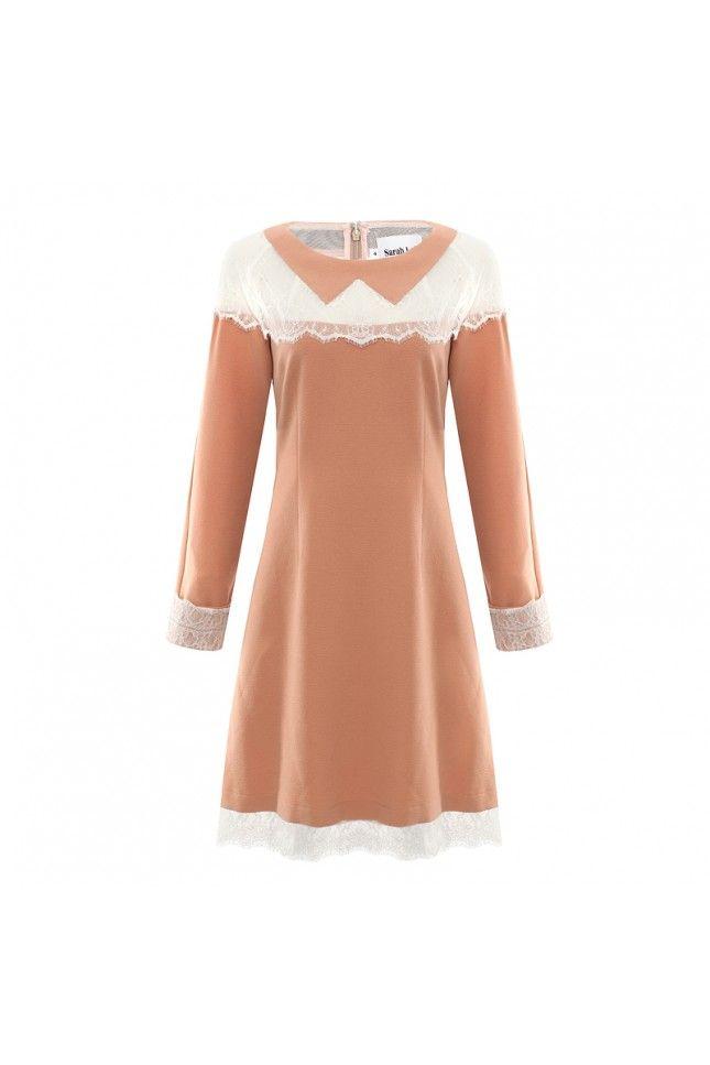 Aurelia Nude Lace Dress