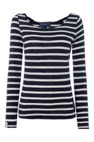 6e9975df1b Sail T-shirt - Navy   White Striped Soft and comfy our blue striped t-shirt  is perfect for teaming up with jeans or leggings.