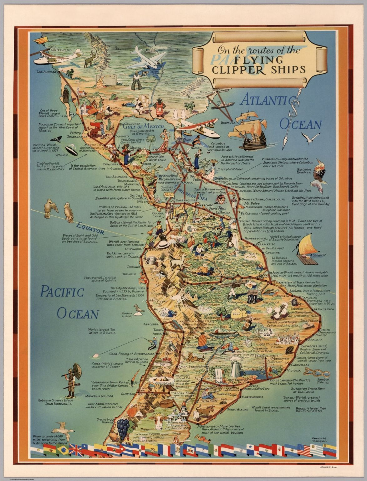 On the routes of the flying clipper ship (1940)