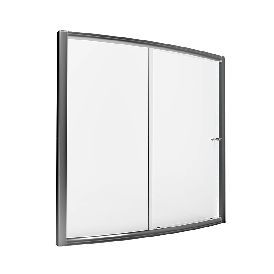 American Standard 57 5 In To 59 In W Silver Bathtub Door At Lowes Com With Images Shower Doors Sliding Shower Door Tub Shower Doors