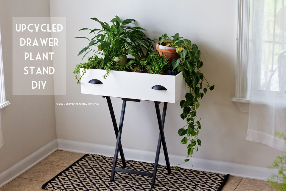 Upcycled Drawer Plant Stand Diy Happy Together Diy 400 x 300