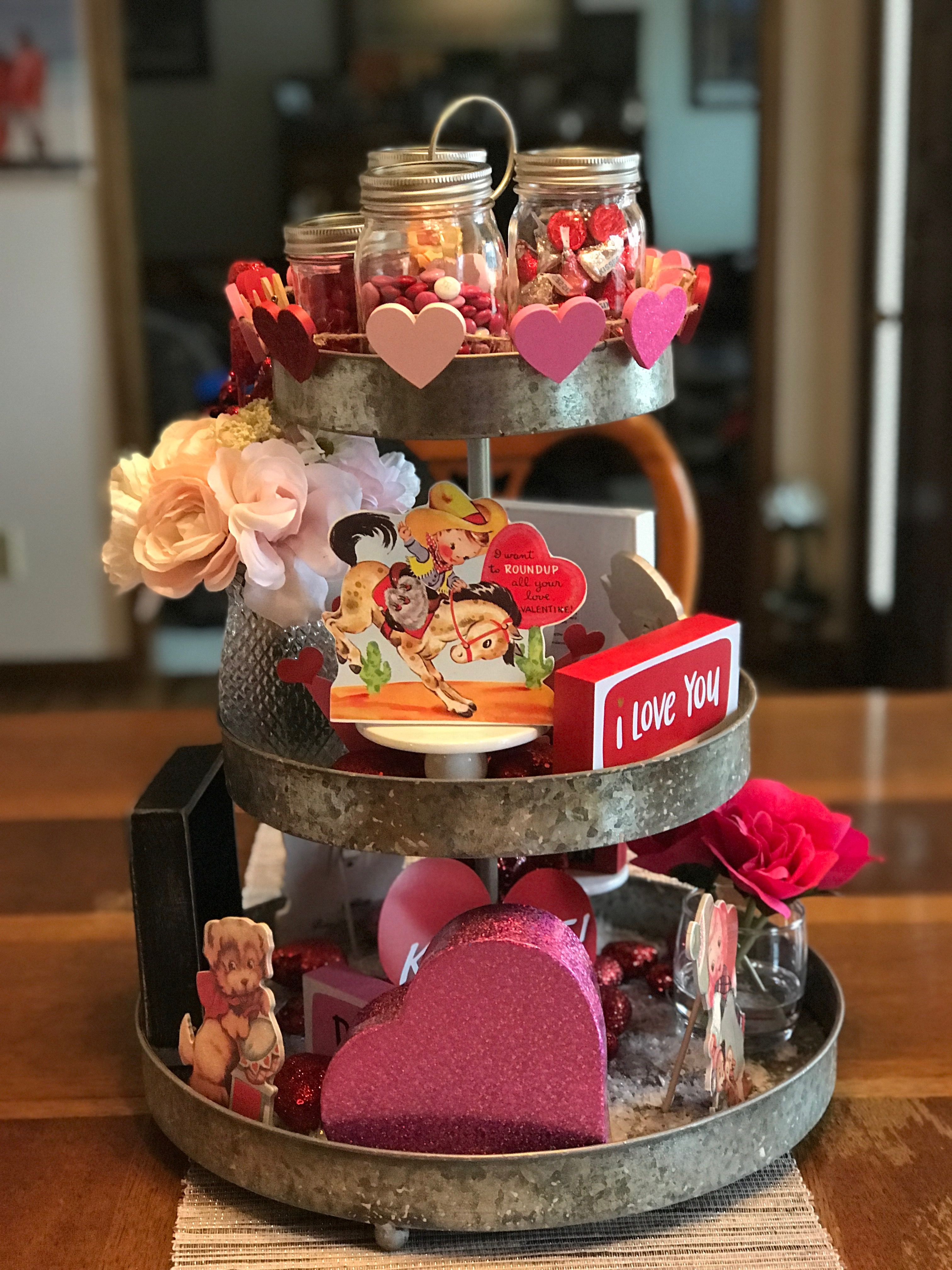 More Valentines tiered tray