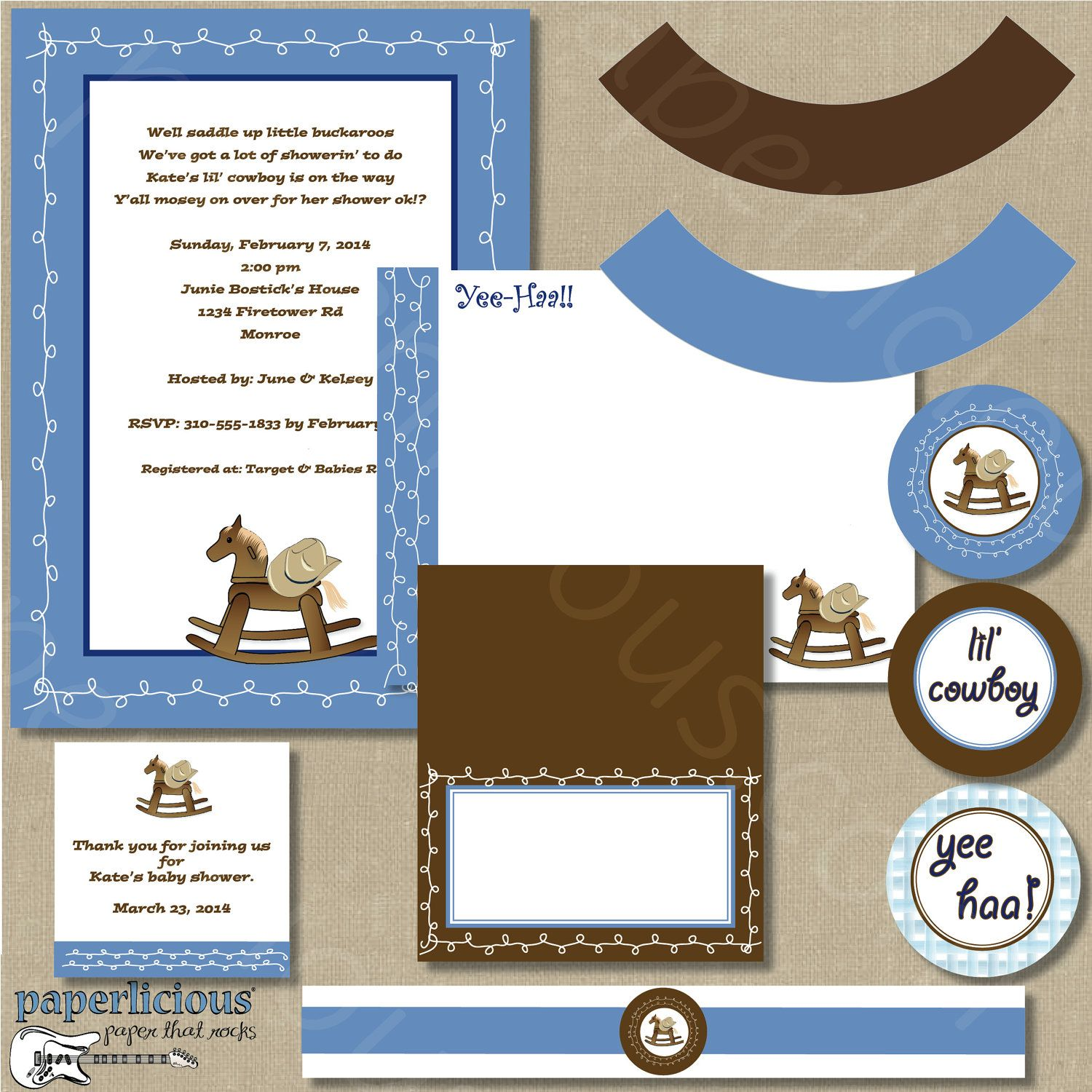 Baby Boy Shower Alluring Western Cowboy Baby Shower Ideas ...