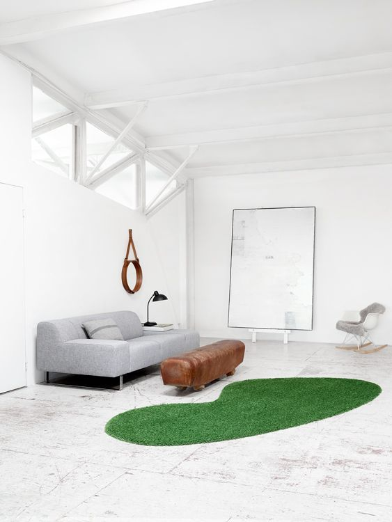 I like green carpet in the middle !  Client: Ege Carpets / Ege Tæpper Photographer: Mikkel Rahr Mortensen // Yellows Stylist: Lene Rønfeldt