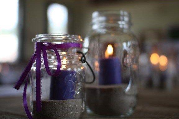 Mason Jar Obsession Ideas/Decor  (pic heavy) :  wedding country decor mason jars Table