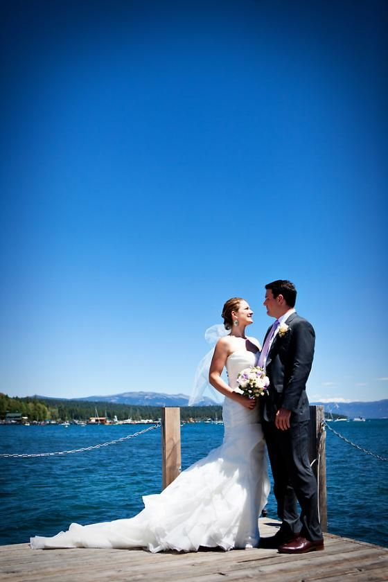 gorgeous lake tahoe nuptials
